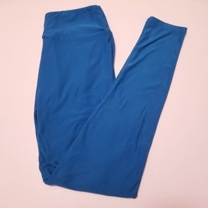 Lularoe One Size Solid Blue Buttery Soft Leggings